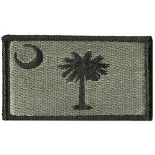 USA South carolina SC STATE FLAG U.S. ARMY EMBROIDERED TACTICAL PATCH #1