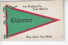 Green and Red Printed Pennant Waiting for Mail in Clarence NY