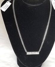 DYRBERG KERN Swarovski Crystal Necklace in Shiny Stainless Steel - NWT