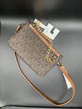 Michael Kors MK Logo Chocolate Brown Fanny Pack Belt Bag 554131 Size XL