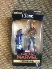 """Marvel Legends 6"""" Captain Marvel in Bomber Jacket Action Figure Kree Sentry BAF"""