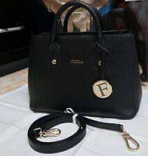 Genuine FURLA Linda Black Leather Handbag *Near New condition*