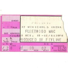 Fleetwood Mac & Glenn Frey Concert Ticket Stub Denver 10/15/82 Mirage Tour Rare