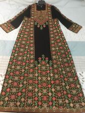 Fancy embroider Thobe caftan dress GOWN abaya Palestinian bedouin jalabiah