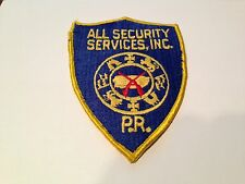 All Security Services Inc. Patch Brand New