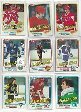 1981-82 Topps Hockey you pick 10 picks $2.00 EX to Mint