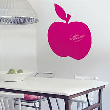 PINK APPLE chalkboard wall stickers MURAL 4 decals leaves includes chalk