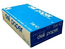 """10"""" x 10.75"""" Dry Waxed Deli Paper Pop-Up Sandwich Food Wrap Sheets 500 Pack"""