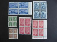 CANADA 6 old better MNH blocks of 4, check them out!
