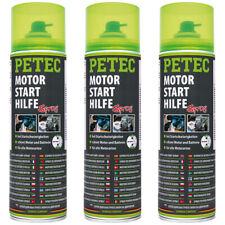 Petec Motorstarthilfe Kaltstarthilfe 3x 500ml 70450 Starterspray Starthilfespray
