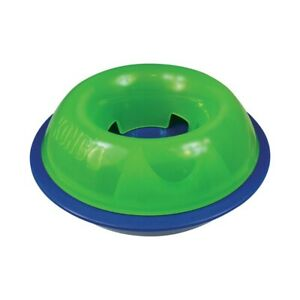 KONG Tiltz Large Treat Dispenser Slow Feed Dogs Toy (green and blue)