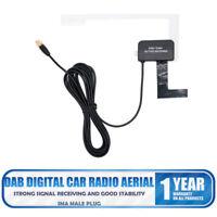 Universal Glass Mount Active DAB Digital Car Radio Aerial Antenna SMA Plug uk