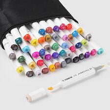TOUCHNEW PRO Sketch Marker Pen 48-color set Art Sketch Twin Tip Marker+ Free Bag