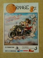 carte postale festival BD Orange Ptiluc 1987