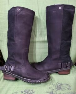 SOREL NL2108-010 Winter Waterproof Black Suede Mid-sole Boot Size 7US, 38EU.