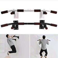 NEW Wall Mounted bar chin Up Pull Up Bar Iron Gym Bracket Exercise Workout Steel