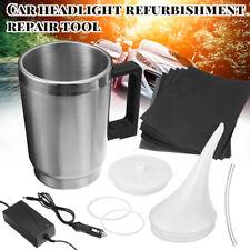 Car Headlight Lens Restoration Kit Restorer System Polishing Restore Cup Adapter