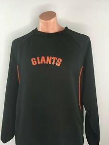 SF Giants MLB San Francisco Patch Majestic Therma Base LS Jersey Sweatshirt