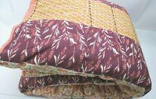 Opalhouse Twin Xl Quilt Peach Desert Rose Stripe Bohemian Cotton Blend Nwot