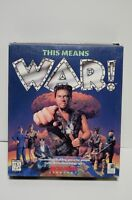 This Means WAR! RTS Microprose Strategy PC CD-ROM Win 3.1 DOS Vtg Computer Game