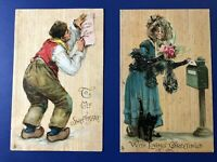 Valentine Greetings. Tuck #117. Artist Brundage. Collector Items. Nice w Value!
