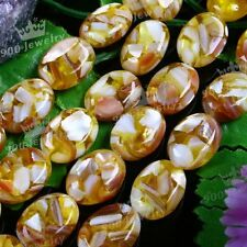 Mother Of Pearl Shell Jewelry Oval Loose Beads Jewelry Makings DIY 13x18mm