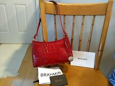 BRAHMIN ANYTIME MINI BAG MELBOURNE SCARLET RED - NWOT