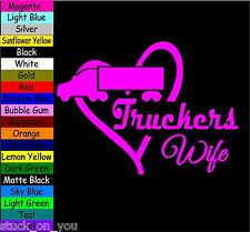 truckers WIFE HEART VINYL DECAL STICKER CAR TRUCK VEHICLE