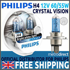 Philips Crystal Vision H4 4300K Headlight Bulbs (Twin Pack)