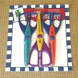 Paper Shapers Scissors | *NEW* 3 Pack PROVO CRAFT Scallop/Wave/ZigZag (Pinking)
