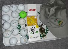Golf equipment collectible lot. Tees, balls, Us Open. St. Andrews, Sir Winston