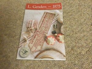 L. Genders 1875 Cross Stitch Design By Brenda Gervais