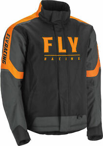 New Fly Racing Outpost snowmobile Cold Weather Jacket SM-3X Black/Grey/Orange