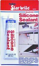Star Brite Marine Grade Silicone Weather Resistant Sealant 2.8 Oz White 82101