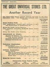 1953 Another Record Year For Great Universal Stores Ltd