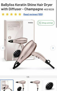Hair Dryer With Diffuser Pink Rose Gold