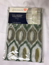"""Sears Colormate Larson One Crinkle Voile Panel 51"""" x 84"""" Mineral"""