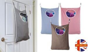 Hanging Over Door Laundry Organiser Hamper Storage Clothing Bag With Hooks