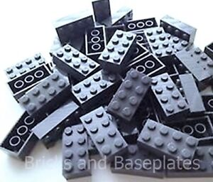LEGO BRICKS 100 x DARK GREY 2x4 Pin - From Brand New Sets Sent in a Clear Sealed