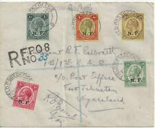 1917 WWI Cover German East Africa British FPO Registered to Nyasaland OAS