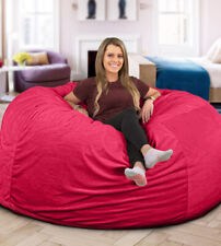 BIG FRANK Living room Home décor Furniture PINK 7 ft. Bean bag :COVER ONLY