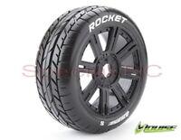 Louise RC 1/8 Buggy Rocket w/ Black wheels (2pcs)  L-T3190SB