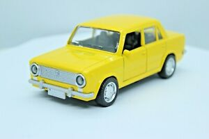 LADA 2101 (yellow) 1/32 scale diecast metal car Length - 4.7 inches