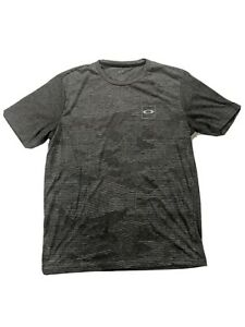 Oakley Regular Fit Men's Large T Shirt Gray Classic Logo Short Sleeve