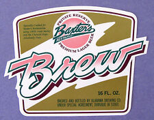 Baxter's Restaurant (by Alabama Brewing Co) BAXTER'S BREW beer label IA 16oz