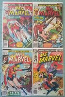 Ms. Marvel (1976)Comic Lot of (4) #12,13,14,22!! FN to VF/NM!! NICE SOLID RUN 🔥