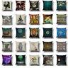 "Standard 18"" Cotton Linen Pillow Case Sofa Car  Waist  Cushion Cover Home Decor"