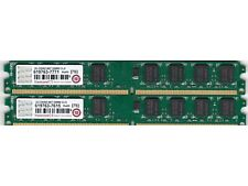 4GB 2x2GB TRANSCEND SAMSUNG CHIPS DDR2-667 PC2-5300 LOW PROFILE DESKTOP RAM KIT
