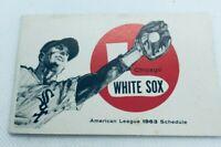 1963 Chicago White Sox Baseball Schedule Pepsi Cola #AA