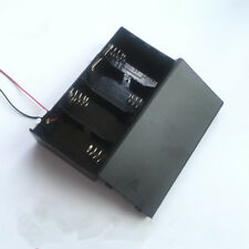 1 PCS 4 x D Cell Battery Holder Box  DC Case with Wire Lead Cover